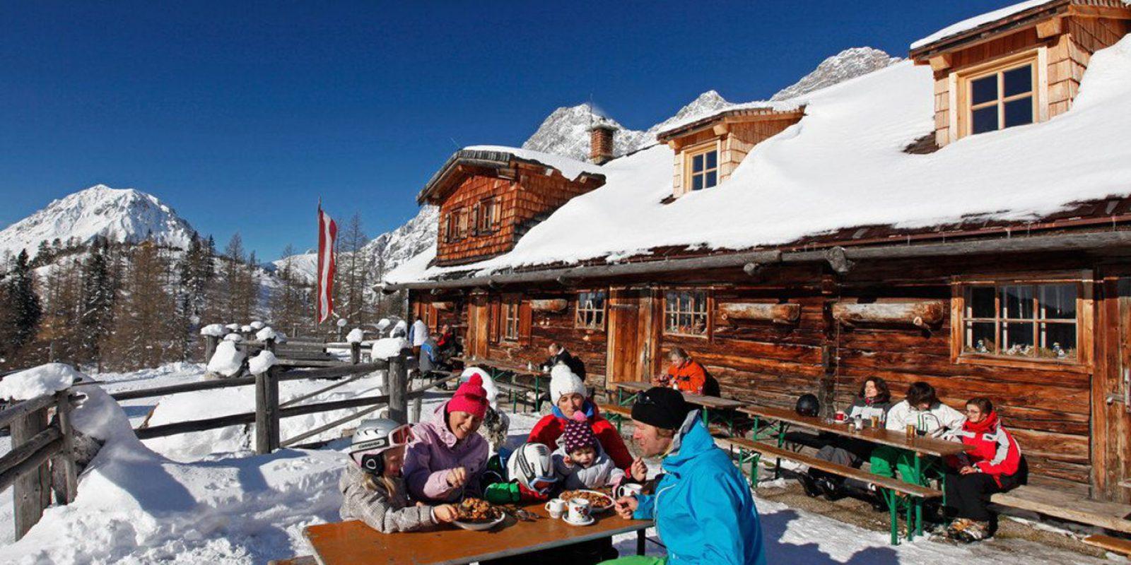 Skifahren Alm